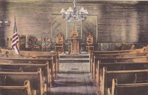 Interior Of Union Church Plymouth Vermont Albertype