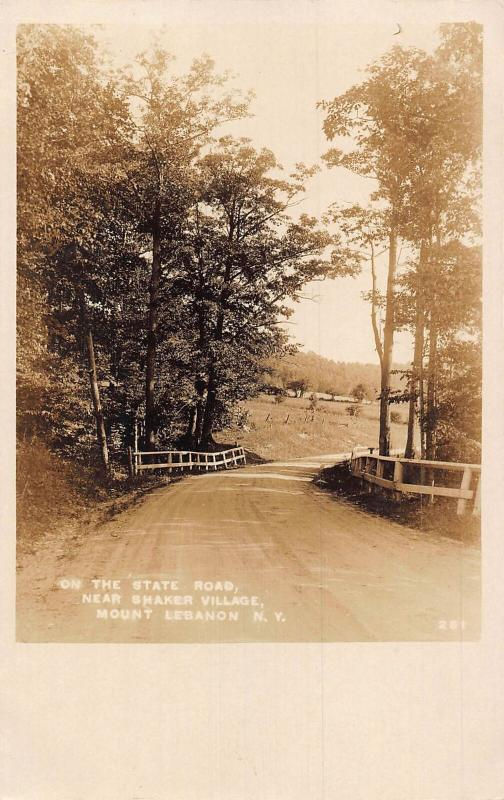 The State Road near Shaker Village Mount Lebanon New York Postcard
