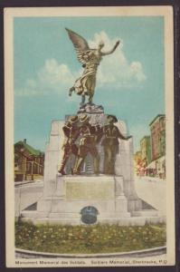 Soldiers Monument,Sherbrooke,Quebec,Canada Postcard