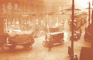 Nostalgia Postcard Deansgate, Manchester, March 1921 Repro Card #N1130
