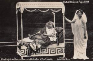 Miss English as Russonia Avenna Suls Temple 1909 Bath Pageant Old RPC Postcard
