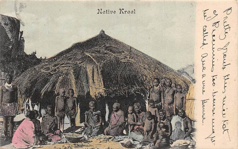 South Africa Native Kraal Children 1907