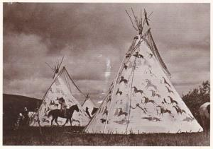 Sioux Indian Teepees Fort Yates Colorado 1992
