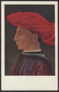 Young Man in Scarlet Turban,Masaccio,Painting Postcard