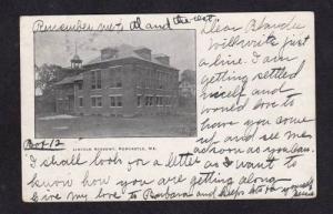 ME Lincoln Academy NEWCASTLE MAINE POSTCARD UDB 1906 PC