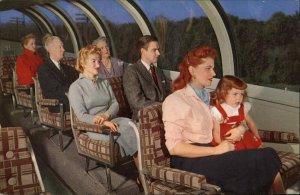 UP Union Pacific RR Railroad Astra Dome Interior c1950s Postcard