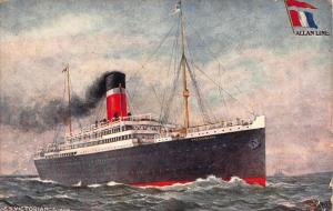 Allan Line turbine SS Victorian Postcard