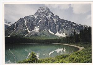 Mount Chephren and Lower Waterfowl Lake, Banff National Park, BANFF, Alberta,...