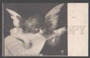 098514 Winged Little ANGEL w/ MANDOLIN Vintage NPG #117 Italia
