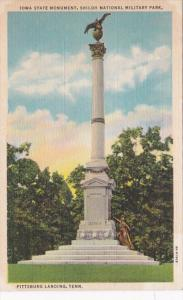 Tennessee Pittsburg Landing Iowa State Monument Shiloh National Military Park...