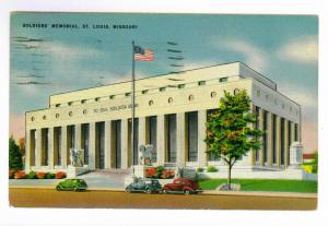 Springfield, Illinois to Bison, Oklahoma 1949 PC, Soldier Memorial, St. Louis