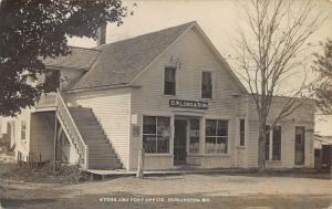 Burlington ME G. W. Lord & Son Store and Post Office Real Photo Postcard