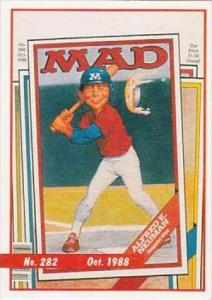 Lime Rock Trade Card Mad Magazine Cover Issue No 282 Oct 1988