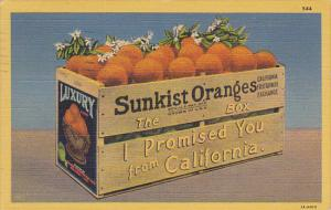Sunkist Oranges The Box I Promised You From California 1951