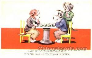 Chess Playing Postcard Postcards