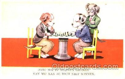 Chess Playing Postcard Postcards