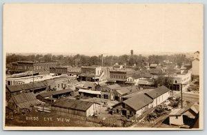 Maroa Illinois~Birdseye Downtown~David Weilepp Hardware~Selz Shoes~c1910 RPPC