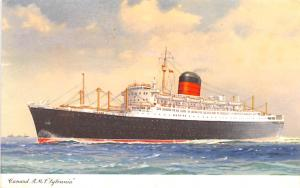 White Star Line Cunard Ship Post Card, Old Vintage Antique Postcard RMS Sylva...
