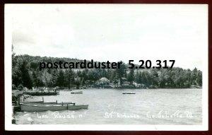 317 - ST. ALPHONSE Quebec 1940s Lac Rouge Cottages. Real Photo Postcard