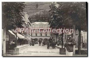 Old Postcard Le Mont Dore Establishment Des Bains
