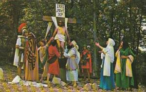 Arkansas Eureka Springs Christ Is Lowered From Cross The Great Passion Play