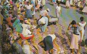 Jamaica Kingston Typical Market Scene