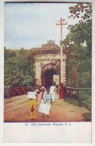 P179 JLs water #49 postcard old gateway manila philippines
