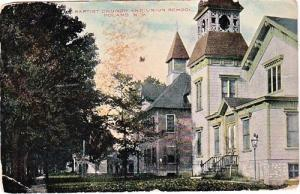 Baptist Church & Union School, Poland NY