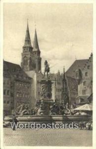 Nurnberg Germany, Deutschland Postcard Neptunbrunnen  Neptunbrunnen