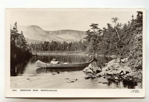 Serpentine River Canoe Newfoundland, Real Photo