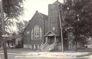Albia IA United Presbyterian Church (Westover Center, PsyD) Neighbor RPPC 1940s