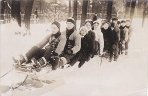 RP: People on a giant sled , TORONTO , Ontario , Canada , PU-1911