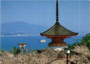 CPM HIROSHIMA Pagoda and Great Torii of Itsukushima Shrine JAPAN (677531)