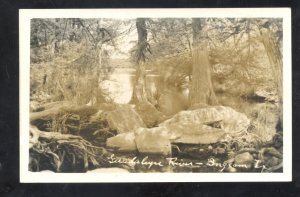 RPPC INGRAM TEXAS GUADALUPE RIVER VINTAGE REAL PHOTO POSTCARD