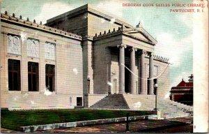 Deborah Cook Sayles Public Library Pawtucket RI Vintage postcard