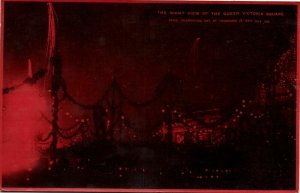 china, HONG KONG, Queen Victoria Square by Night (1919) Postcard