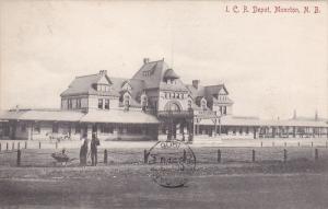 I.C. Railroad Train DEpot , MONCTON , New Brunswick , Canada , PU-1906