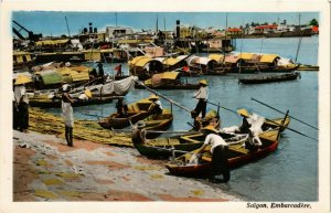 CPA AK INDOCHINA Saigon Embarcadere VIETNAM (956888)