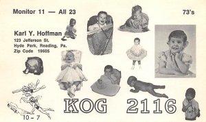 KOG2116 Reading, PA, USA QSL Non Postcard Backing