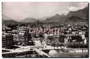 Old Postcard Grenoble General view and Cours Jean Jaures