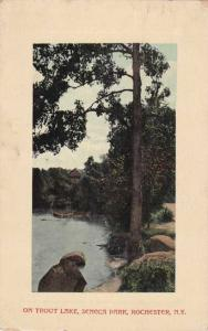 Seneca Park View on Trout Lake NY, Rochester, New York - pm 1914 - DB