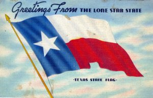 [ Linen ] US Texas The Lone Star State - Greetings