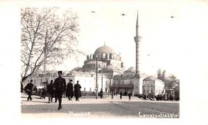 Turkey Old Vintage Antique Post Card Mosque Constantinople Non Postcard Backing