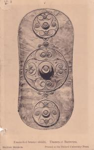 Battersea London Bronze Shield Thames Rome Roman British Museum Postcard