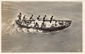Ghana Gold Coast Surf Boat RP Postcard