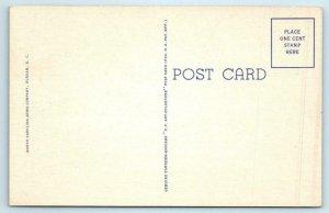 RALEIGH, NC ~ Clock Tower NORTH CAROLINA STATE COLLEGE c1940s Linen  Postcard