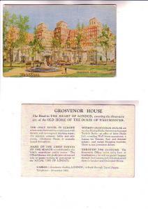Park Lane, Grosvernor House, Hotel Advertising London England