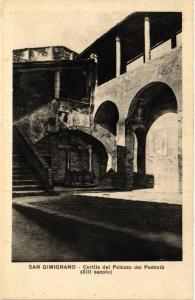 CPA San Gimignano Cortile del Palazzo del Podestá . ITALY (447548)