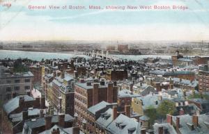 General View, BOSTON, Massachusetts, 1900-10s; New West Boston Bridge