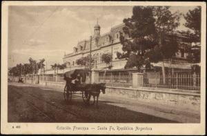 argentina, SANTA FE, Estacion Francesa, Railway Station, Horse Cart (1920s)